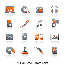 Media and Entertainment Icons - Vector icons for your...