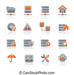 Network, Server and Hosting Icons - Vector icons for your...