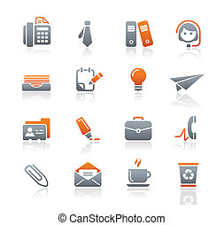 Office and Business Icons Graphite - Vector icons for your...