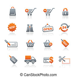 Web Shopping Icons Graphite - Vector icons for your website...