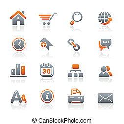 Web Site and Internet Graphite - Vector icons for your...