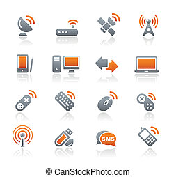 Wireless and Communications Graphite - Vector icons for your...