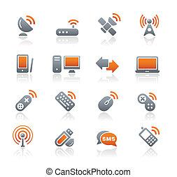 radio, y, comunicaciones, /Graphite