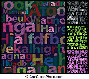 Color Letters Background - Rough Color letters background...