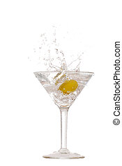classic martini splash - isolated classic martini splash