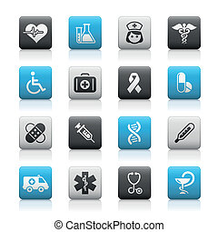 Medicine & Heath Care / Matte - Matte buttons set for your...