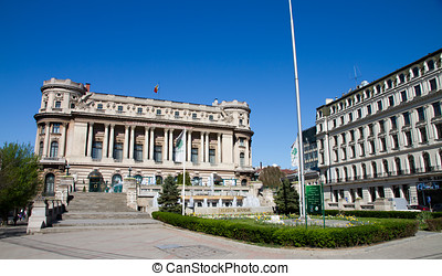 Bucharest view - National Army Pa - The National Army...
