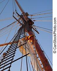Mast of a Sailing Ship