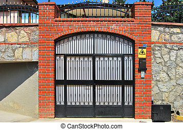 Entrance gate - Decorative iron front garden gate
