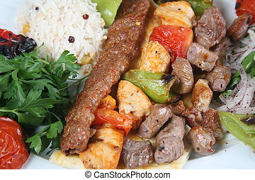 turkish kebab - Turkey meat dishes made ??from an image of...