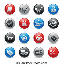 Shopping Icons / Gel Pro - Glossy web buttons set for your...