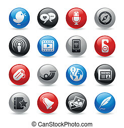 Social Media / Gel Pro - Glossy web buttons set for your...