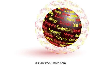 Marketing abstract globe