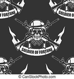 Army background a Seamless - The vector image Army...