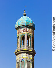 Colorful mosaic of an oriental roof of mosque - Colorful...