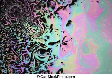 Slick - Colorful oil slick background