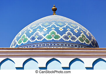 Colorful mosaic of an oriental roof