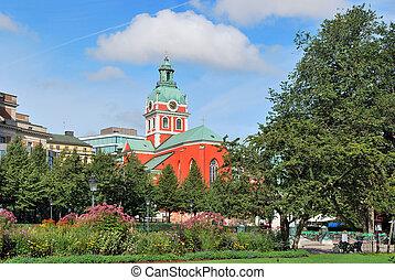 Stockholm. St.Jakob church - Stockholm. View of St.Jakob...