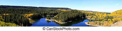 Panorama of Grand Mesa Lake - Grand Mesa Lake in Colorado