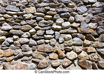 Old stone masonry