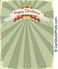 Vintage christmas background for design - Vintage christmas...