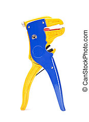 wire stripper - Professional blue with yellow wire stripper...