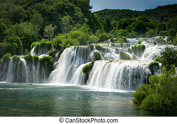 Krka waterfalls - The big waterfalls at the national park...