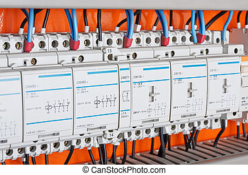 Control panel - New control panel with static energy meters...