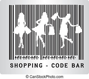 code bar shopping - black and white code bar shopping...