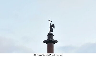 Alexander Column - The centre of the Palace Square is marked...