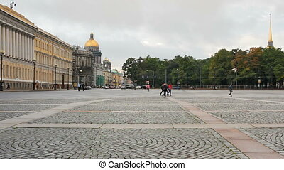 View from the Palace Square - St Isaacs Cathedral, Nevsky...