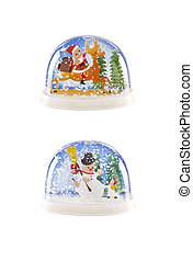 Christmas snow globes - Two christmas themed snow globes...