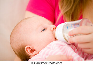 Artificial feeding of children - Feeding of the chest baby...