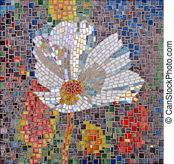 mosaic - glass mosaic flower