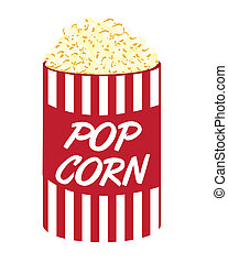pop corn cartoon isolated over white background vector
