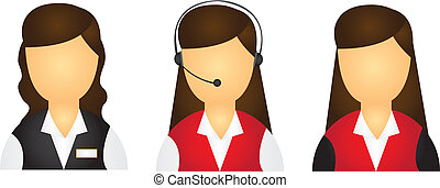 reception icon - young girls receptions icons isolated over...
