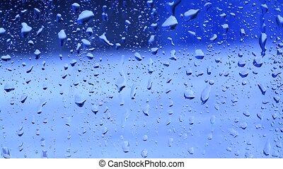 Running down - Rain running down window
