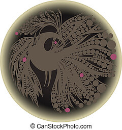 gray bird silhouette in a circle