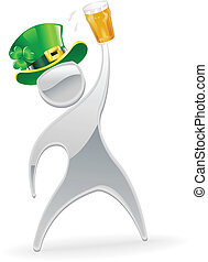 Metallic man St. Patrick's Day concept