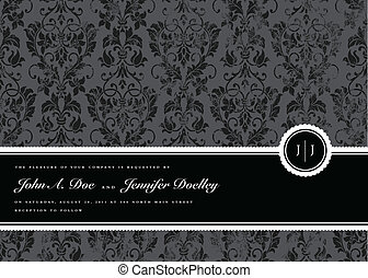 Vector Distressed Pattern and Seal Frame