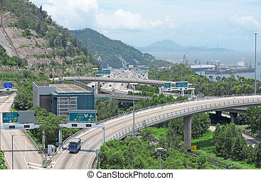 hong kong highway at day