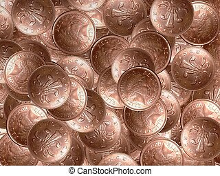 coins - Lots of 2 pence coins