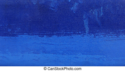 bright blue paint brush stroke grungy background...