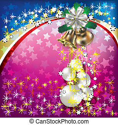 background with Christmas decorations - Abstract background...