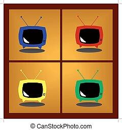 Vintage TV sets