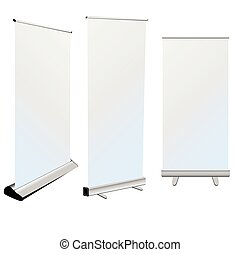 roll up banner on white background - roll up banner art on...
