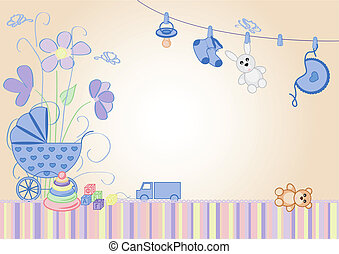 children's, background, -, boy