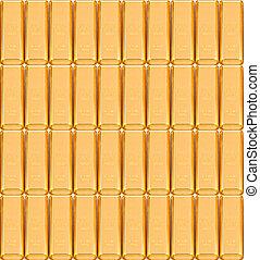 Fine gold 999,9 Set of gold ingots