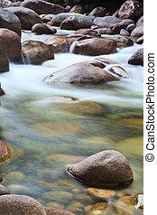 pebbels in creek - pebbels or rocks in creek or stream...