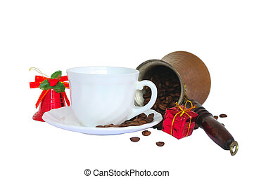 christmas coffee - composition of Christmas coffee turk and...